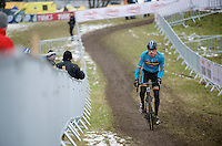 Rob Peeters (BEL) during course recon &amp; training<br /> <br /> 2015 UCI World Championships Cyclocross <br /> Tabor, Czech Republic