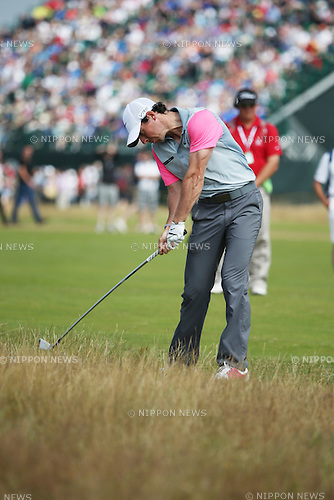 Rory McIlroy (NIR), JULY 20, 2014 - Golf : Rory McIlroy of Northern Ireland plays a shot off on the 5th hole during the final round of the 143rd British Open Championship at Royal Liverpool Golf Club in Hoylake, England. (Photo by Koji Aoki/AFLO SPORT) [0008]