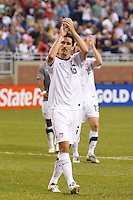 7 June 2011: USA Men's National Team midfielder Sacha Kljestan (16) salutes the fans after the CONCACAF soccer match between USA and Canada at Ford Field Detroit, Michigan. USA won 2-0.