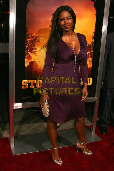 "KENYA MOORE.""Stomp The Yard"" Los Angeles Premiere at Arclight Cinemas, Hollywood, California, USA, 8 January 2007..full length purple dress.CAP/ADM/BP.©Byron Purvis/AdMedia/Capital Pictures."