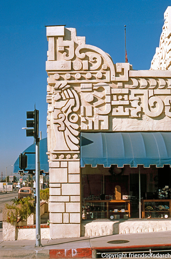 Los Angeles: Aztec Hotel, Monrovia, 1925. Detail.Photo '87.
