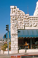 Los Angeles: Aztec Hotel, Monrovia, 1925. Detail.Photo '87.