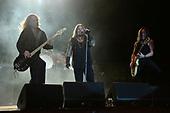 "MIAMI, FL - NOVEMBER 04: Dana Strum, Vince Neil and Jeff ""Blando"" Bland of the Vince Neil Band perform at The Magic City Casino on November 4, 2017 in Miami, Florida. Credit Larry Marano © 2017"
