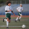 Marc Chiappone #4 of Carle Place moves the ball upfield during the NYSPHSAA varsity boys soccer Class B Southeast Regional against Hastings at Mitchel Athletic Complex on Saturday, Nov. 5, 2016. Hastings defeated Carle Place by a score of 4-0.