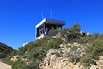 Fire watch look-out tower, mountain peak near Coll de Rates, Tarbena,  Marina Alta, Alicante province, Spain