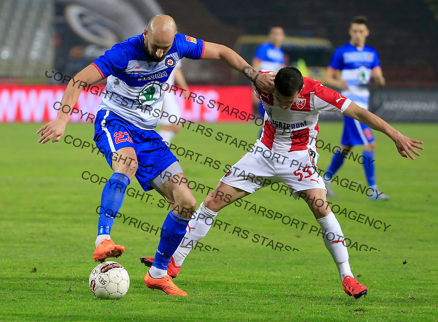 Fudbal Kup Srbije season 2015-2016<br /> Crvena Zvezda v Borac Cacak<br /> Dusan Micic (L) and Slavoljub Srnic<br /> Beograd, 12.02.2015.<br /> foto: Srdjan Stevanovic/Starsportphoto&copy;