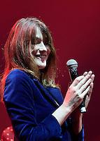 Carla BRUNI - Gala de l'Association pour la Recherche sur Alzheimer 30 janvier 2017 - Salle Pleyel - Paris - France # GALA DE L'ASSOCIATION POUR LA RECHERCHE SUR ALZHEIMER A PARIS