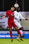 Jong Il Gwan of North Korea (L) competes for the ball with Abdulaziz Al-Bish of Saudi Arabia (R) during the AFC Asian Cup UAE 2019 Group C match between Saudi Arabia (KSA) and North Korea (PRK) at Rashid Stadium on 08 January 2019 in Dubai, United Arab Emirates. Photo by Marcio Rodrigo Machado / Power Sport Images