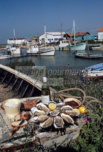 Europe/France/Poitou-Charente/17/Charente-Maritime/Marennes: Plateau d'huitres