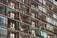 - working-class houses  in the Mirafiori quarter close to the FIAT plants....- case operaie nel quartiere Mirafiori vicino agli stabilimenti FIAT