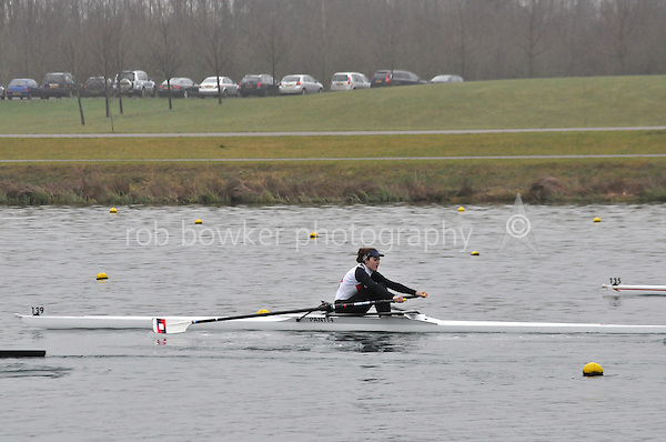 139 PangbourneColl W.J18A.1x..Marlow Regatta Committee Thames Valley Trial Head. 1900m at Dorney Lake/Eton College Rowing Centre, Dorney, Buckinghamshire. Sunday 29 January 2012. Run over three divisions.