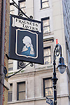 Fraunce's Tavern, Lower Manhattan, New York, New York.<br /> <br /> Must include following text: Fraunces Tavern Museum is owned and operated by and FRAUNCES TAVERN is a registered service mark of Sons of the Revolution in the State of New York Inc. a not-for-profit corporation instituted in 1876 and incorporated in 1884. The Museum is accredited by the American Association of Museums.  Funding is provided by corporations, foundations, individuals, goverment agencies and Sons of the revolution in the State of New York.