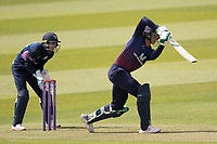 Keaton Jennings of Lancashire CCC drives straight through mid off and collects four runs during Middlesex vs Lancashire, Royal London One-Day Cup Cricket at Lord's Cricket Ground on 10th May 2019
