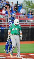 Northern Burlington's Adam Rapp leaps in the air after Mainland's Matt Thomas struck out to end the game during the Group 3 baseball semifinal Wednesday June 3, 2015 at Rutgers University in Piscataway, New Jersey. Northern Burlington defeated Mainland 6-4 to move onto the championship game. (Photo by William Thomas Cain/Cain Images)