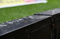 Heavy rain falls inside Deepdale<br /> <br /> Photographer Alex Dodd/CameraSport<br /> <br /> The EFL Sky Bet Championship - Preston North End v Bristol City - Saturday 28th September 2019 - Deepdale Stadium - Preston<br /> <br /> World Copyright © 2019 CameraSport. All rights reserved. 43 Linden Ave. Countesthorpe. Leicester. England. LE8 5PG - Tel: +44 (0) 116 277 4147 - admin@camerasport.com - www.camerasport.com