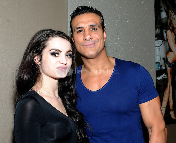 "NEW YORK, NY - MARCH 04: Alberto DelRio and Paige attend the ""Big Event"" at the LaGuardia Plaza Hotel on March 4, 2017 in New York City.  Photo by: George Napolitano/ MediaPunch"
