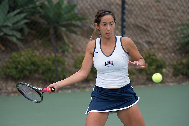 April 22, 2015; San Diego, CA, USA; Loyola Marymount Lions tennis player Ellie Grossman during the WCC Tennis Championships at Barnes Tennis Center.