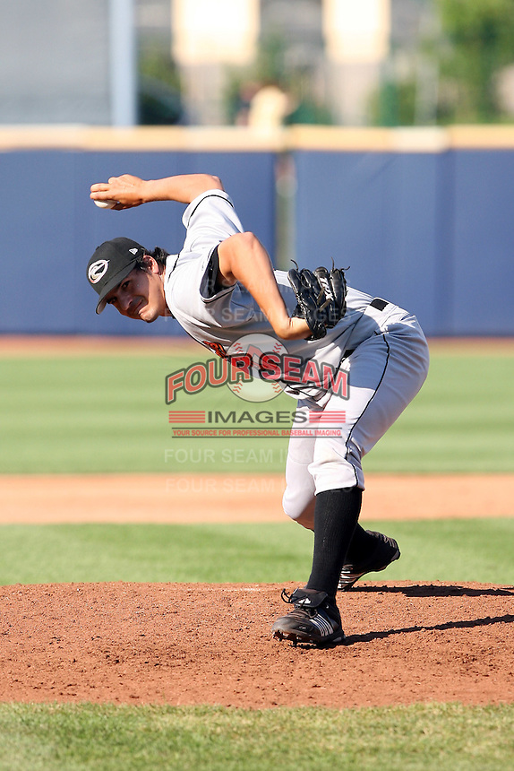 June 11th 2008:  Pitcher Mick Mattaliano of the Delmarva Shorebirds, Class-A affiliate of the Baltimore Orioles, during a game at Classic Park in Eastlake, OH.  Photo by:  Mike Janes/Four Seam Images