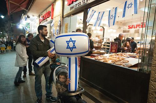Jerusalem, 09 Mai 2011. Les Israeliens fetent le jour de la victoire contre les nazis (remembrance day), une fete nationale en Israel