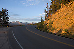 sky, Trail Ridge Road, road, Front Range, peaks, mountain, sunrise, morning, August, color, colorful, subalpine, landscape, travel, scenic, Many Parks Curve, Rocky Mountain National Park, Colorado, Rocky Mountains, USA