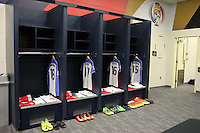 Seattle, WA - Thursday June 16, 2016: United States locker room prior to a Copa America Centenario quarterfinal match between United States (USA) and Ecuador (ECU) at CenturyLink Field.