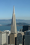 The Transamerican building taken on top of the Mark Hopkins, Nob Hill in San Francisco California.