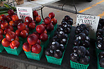 Nectarines and plums for sale at Midland, Michigan's farmers market