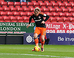 Sheffield United's Mark Duffy scoring his sides opening goal during the League One match at the Valley Stadium, London. Picture date: November 26th, 2016. Pic David Klein/Sportimage