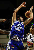 Kevin Owens loses a rebound during the NBL Basketball match between the Wellington Saints and Bay Hawks, TSB Bank Arena, Wellington, New Zealand on Saturday, 10 May 2008. Photo: Dave Lintott / lintottphoto.co.nz