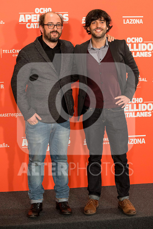 "Screenwritters Borja Cobeaga (L) and Diego San Jose during the presentation of the film ""Ocho Apellidos Catalanes"" in Madrid, November 17, 2015.<br /> (ALTERPHOTOS/BorjaB.Hojas)"
