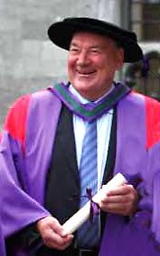 Dr John Killeen at the conferring of his Honorary Doctorate at NUIG in 2010