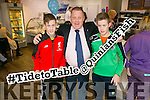 Ronan Quinlan, Liam Quinlan  Donagh Quinlan at the  Opening of new Quinlan's fish and chip shop, The Square, Killorglin