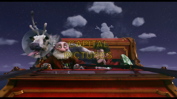 Grandsanta (voiced by Bill Nighy) and Arthur (voiced by James McAvoy).in Arthur Christmas.*Filmstill - Editorial Use Only*.CAP/FB.Supplied by Capital Pictures.