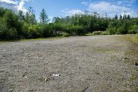 Ordered by Henry<br /> Pictured: A general view of the aftermath of an illegal rave party. Tuesday 1 September 2020<br /> Re: Around 70 South Wales Police officers executed a dispersal order at the site of an illegal rave party, where they confiscated sound gear used by the organisers in woods near the village of Banwen, in south Wales, UK.