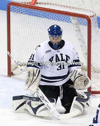 Nick Maricic (Yale - 31) - The Rensselaer Polytechnic Institute (RPI) Engineers defeated the Yale University Bulldogs 4-0 on Saturday, January 30, 2010, at Ingalls Rink in New Haven, Connecticut.