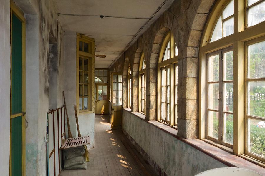 Enclosed First Floor Balcony, British Junior District Office In Weihai (Weihaiwei).