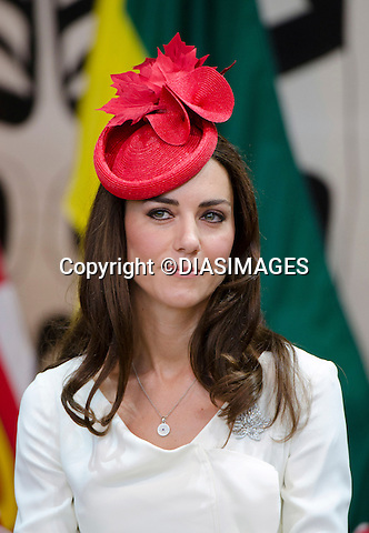 """WILLIAM & KATE ATTEND A CITIZENSHIP CEREMONY ON CANADA DAY.Canadian Museum of  Civilization, Ottawa_01/07/2011.Mandatory Credit Photo: ©DIASIMAGES..**ALL FEES PAYABLE TO: """"NEWSPIX INTERNATIONAL""""**..No UK sales until 28/07/2011.IMMEDIATE CONFIRMATION OF USAGE REQUIRED:.DiasImages, 31a Chinnery Hill, Bishop's Stortford, ENGLAND CM23 3PS.Tel:+441279 324672  ; Fax: +441279656877.Mobile:  07775681153.e-mail: info@newspixinternational.co.uk"""