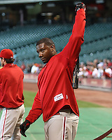 Philadelphia Phillies 1B Ryan Howard on Thursday May 22nd at Minute Maid Park in Houston, Texas. Photo by Andrew Woolley / Four Seam Images..