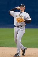 June 1, 2008: Salt Lake Bees' Adam Pavkovich makes a throw to first base against the Tacoma Rainiers at Cheney Stadium in Tacoma, Washington.