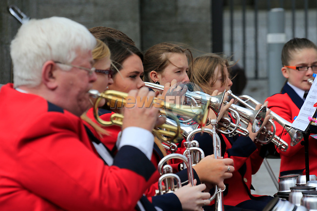 Lourdes Brass band playing to the public beside St. Peters in West street.<br /> Picture www.newsfile.ie