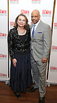 Constanza Romero and Ruben Santiago-Hudson attends August Wilson's 'Jitney' Broadway opening night after party at Copacabana on January 19, 2017 in New York City.