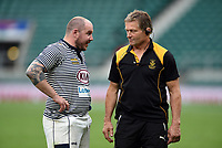 Neil Briggs of Cheshire speaks with Cornwall Head Coach Graham Dawe after the match. Bill Beaumont County Championship Division 1 Final between Cheshire and Cornwall on June 2, 2019 at Twickenham Stadium in London, England. Photo by: Patrick Khachfe / Onside Images