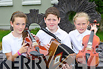 Abbeyfeale musicians l-r Keely Quirke, Shane Dillon and Lorna Larkin  at the Fleadh Cheoil na Mumhan in Killarney on Saturday