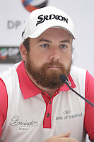 Shane Lowry (IRL) speaking during his press conference ahead of the DP World Tour Championship, Earth Course, Jumeirah Golf Estates, Dubai, UAE.  18/11/2015.<br /> Picture: Golffile | Fran Caffrey<br /> <br /> <br /> All photo usage must carry mandatory copyright credit (&copy; Golffile | Fran Caffrey)