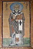 Ignatios of Antioch,wall-painting,South-west chapel,Katholikon Church of St. Luke,11th Century,Osios Loukas Monastery,Greece