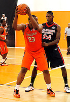 April 9, 2011 - Hampton, VA. USA;  Beejay Anya participates in the 2011 Elite Youth Basketball League at the Boo Williams Sports Complex. Photo/Andrew Shurtleff