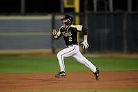 UCF Knights Matt Archer (2) running the bases during a game against the Siena Saints on February 14, 2020 at John Euliano Park in Orlando, Florida.  UCF defeated Siena 2-1.  (Mike Janes/Four Seam Images)