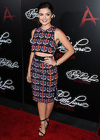 HOLLYWOOD, LOS ANGELES, CA, USA - MAY 31: Lucy Hale at the 'Pretty Little Liars' 100th Episode Celebration held at W Hotel Hollywood on May 31, 2014 in Hollywood, Los Angeles, California, United States. (Photo by Xavier Collin/Celebrity Monitor)