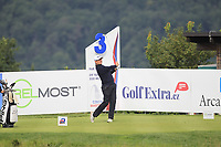 Jamie Rutherford (ENG) on the 3rd tee during Round 4 of the D+D Real Czech Masters at the Albatross Golf Resort, Prague, Czech Rep. 03/09/2017<br /> Picture: Golffile | Thos Caffrey<br /> <br /> <br /> All photo usage must carry mandatory copyright credit     (&copy; Golffile | Thos Caffrey)
