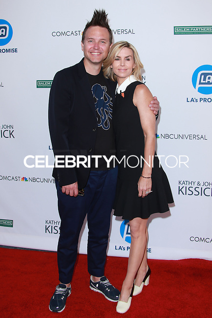 UNIVERSAL CITY, CA, USA - SEPTEMBER 30: Mark Hoppus, Skye Everly arrive at LA's Promise Gala 2014 held at the Globe Theatre at Universal Studios on September 30, 2014 in Universal City, California, United States. (Photo by David Acosta/Celebrity Monitor)